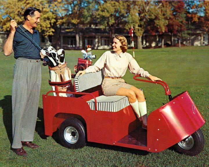1956 Cushman Electric & Gas Golf Cart Photo Poster zm1625-C3NIUP