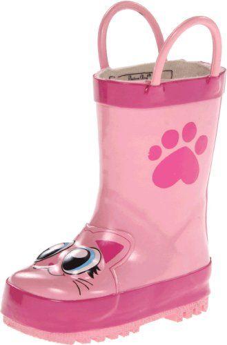Western Chief Kids Pink Kitty Rain Boot (Toddler/Little K…