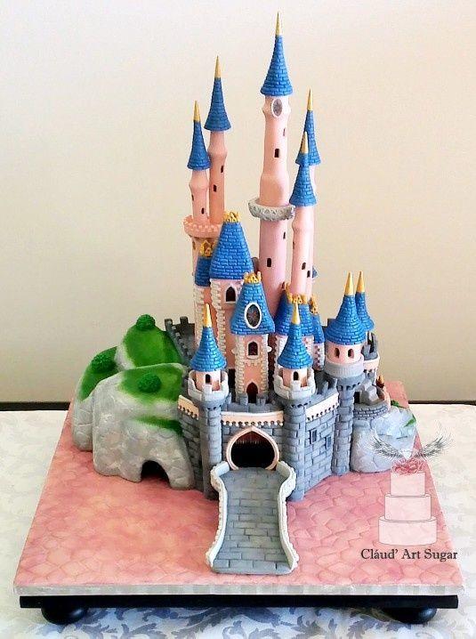Sleeping Beauty Castle Cake