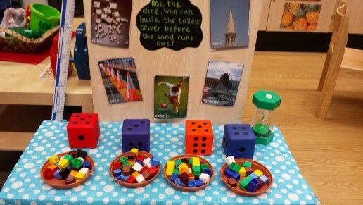 Maths challenge. Who can build the tallest tower by rolling the dice, before the time runs out.