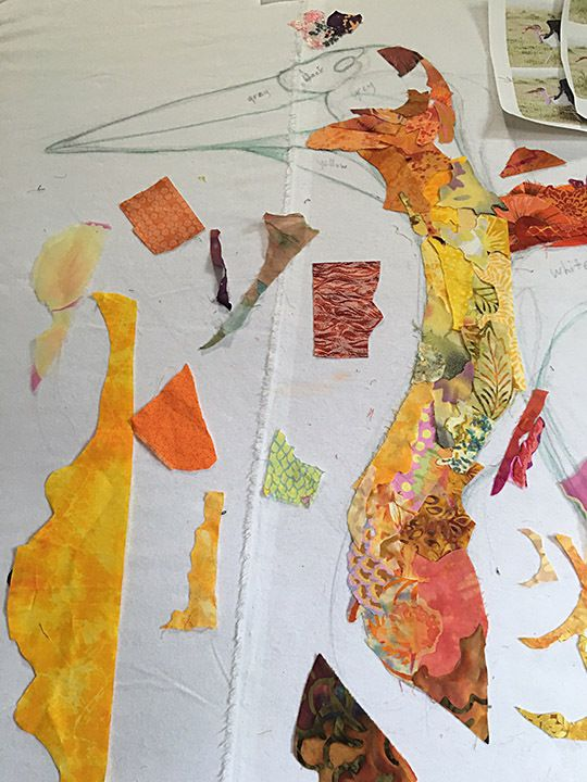 The cool process of Susan Carlson, art quilter.