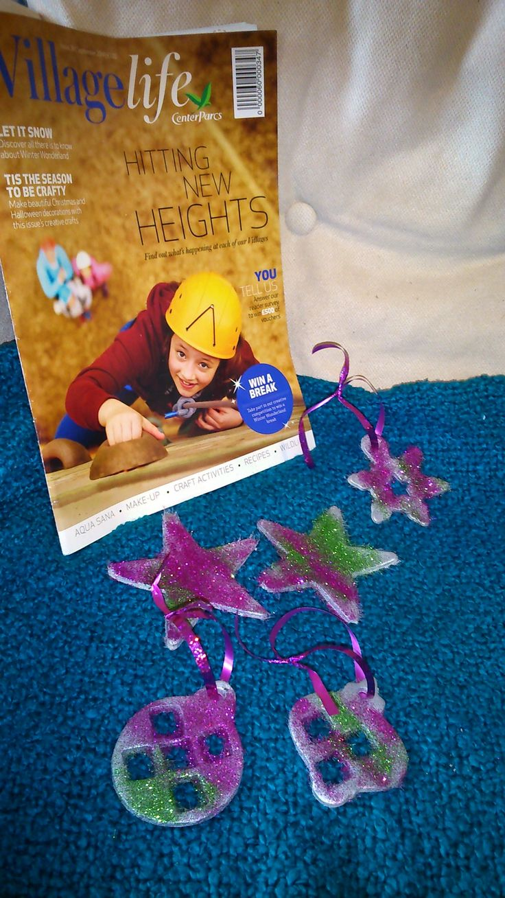 #CPfestivecrafts Let the small humans loose with glitter, sparkly house!