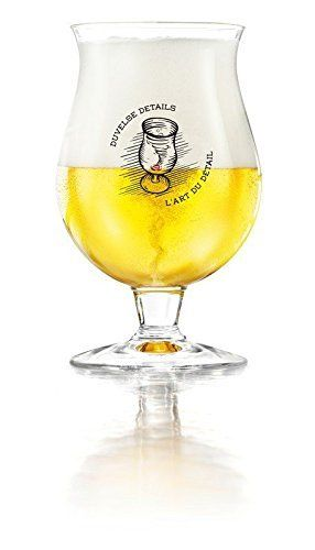 New Duvel Beer Chalice 2016 Edition 33cl. Official Duvel glass ideal as a gift and for pouring the perfect Duvel + 1 Duvel Beer Mat