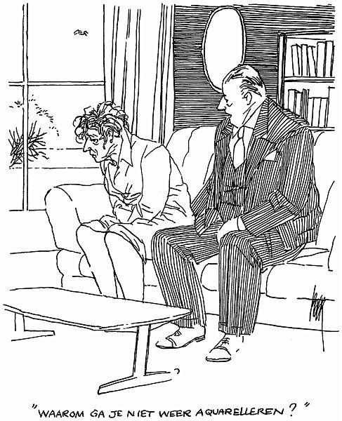 Straaten, Peter van (1935-) - Waarom ga je niet weer aquarelleren¿.jpg - Straaten, Peter van (1935-) - Waarom ga je niet weer aquarelleren?