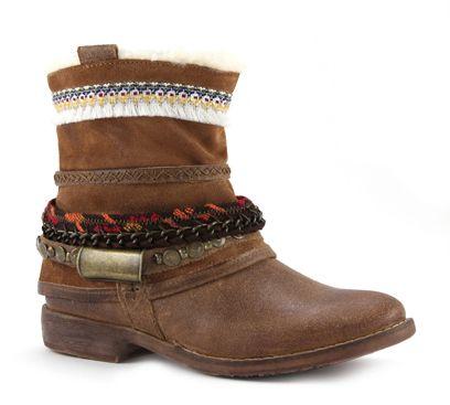 Bullboxer cognac enkellaars - Damesschoenen online bestellen en kopen bij Sooco - Vandaag besteld is morgen in huis #schoenen #fashion #mode #laarzen #herfst #autumn #shoes