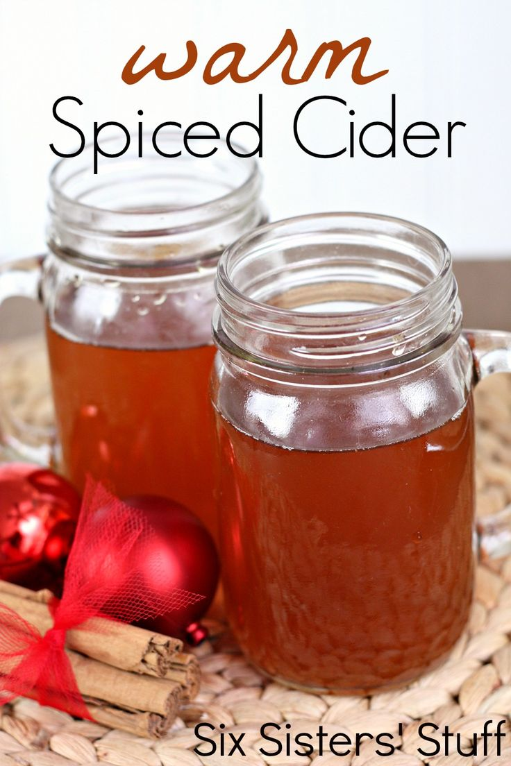 Grandma's Warm Spiced Cider from SixSistersStuff.com I'm getting so excited for Fall!!