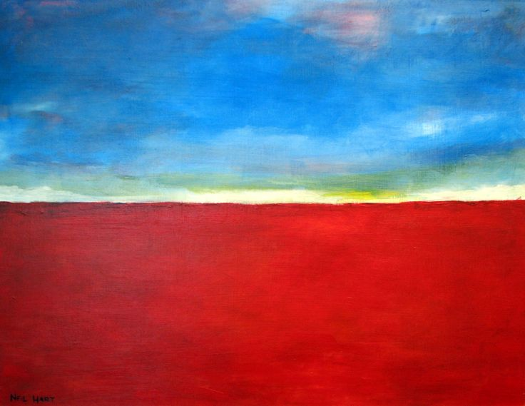 Abstract landscape Acrylic. 600 x 450