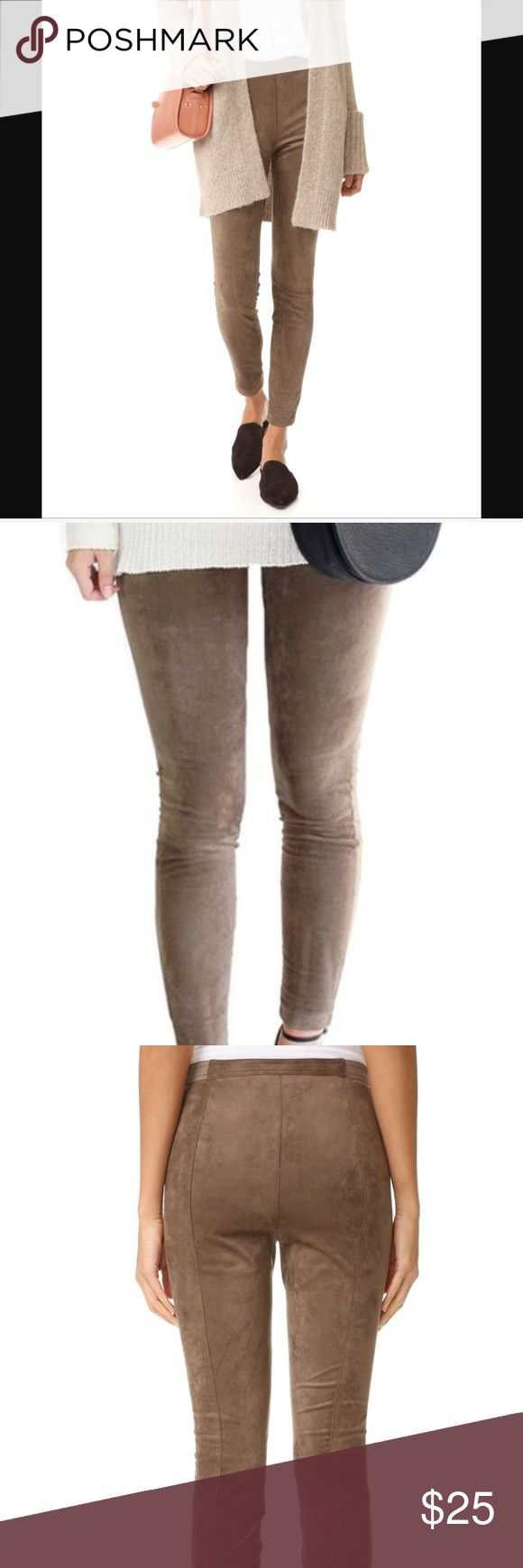BB Dakota Leggings Fuax suede camel leggings are extremely comfortable and stylish! Only worn once BB Dakota Pants Leggings