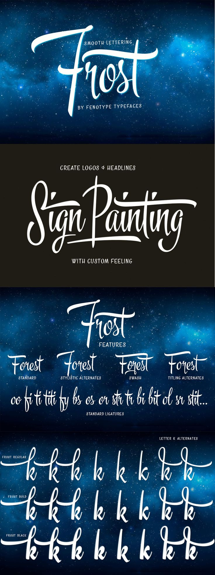 Frost Font by Fenotype | 22 Professional & Artistic Fonts Apr 2015