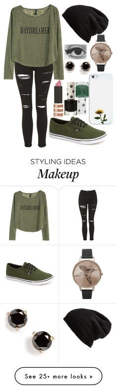 """Untitled #289"" by leahgomezanderson on Polyvore featuring Free People, Topshop, H&M, Vans, Olivia Burton, Casetify and Kate Spade"