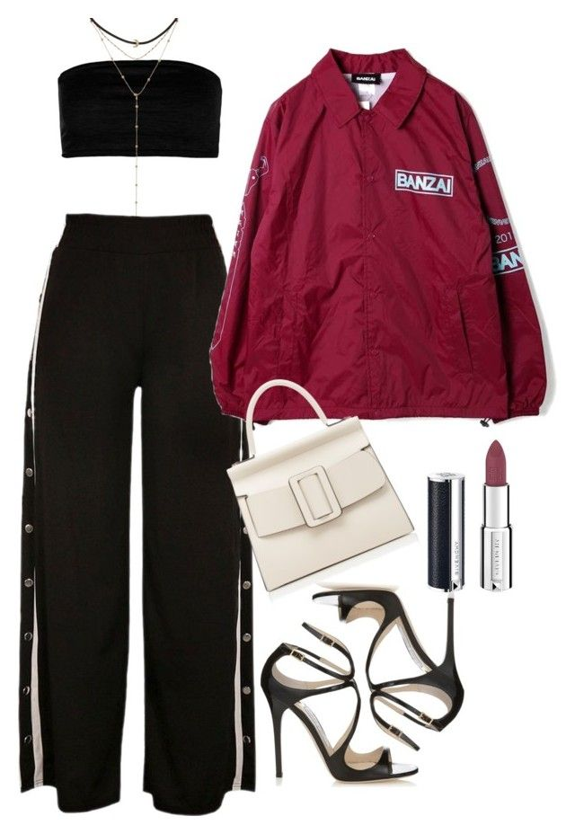 """Untitled #5207"" by dudas2pinheiro ❤ liked on Polyvore featuring Boohoo, BANZAI, Boyy, Jimmy Choo and Givenchy"