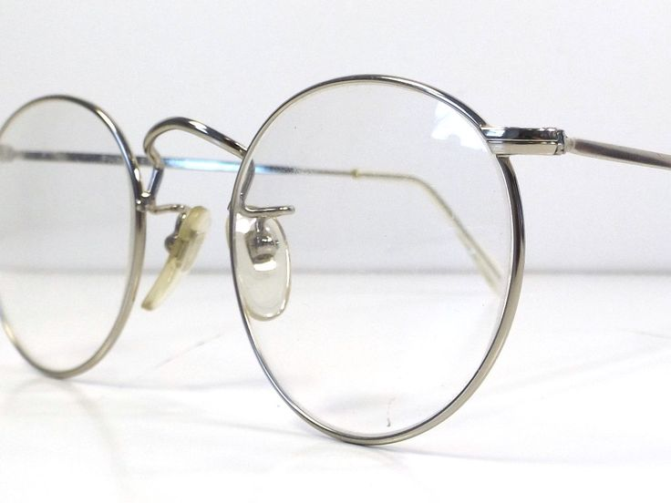 vintage 90s deadstock teashade frames eyeglasses silver metal retro eye glasses men women unisex thin wire circle steampunk industrial A59 by RecycleBuyVintage on Etsy