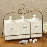 Annabel Canister Set Cream Set of FourKitchens Decor, Canisters Sets, Accessories For The Kitchens, Kitchen Canisters, Annabel Canisters, Annabel Kitchens, Cream Sets, Hostess Gift, Kitchens Canisters