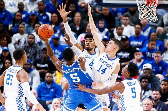 Nick Richards Tyler Herro Men S Basketball Falls To Duke 118 84 Photo By Chet White Uk Athletics Kentucky Kentucky Basketball University Of Kentucky
