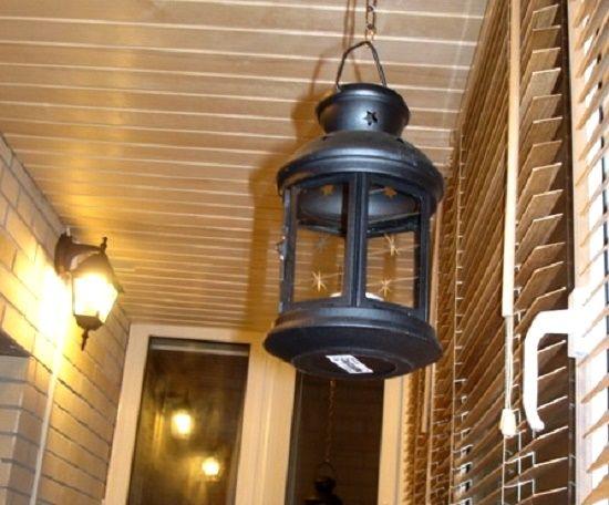 Подвесной кованый фонарь