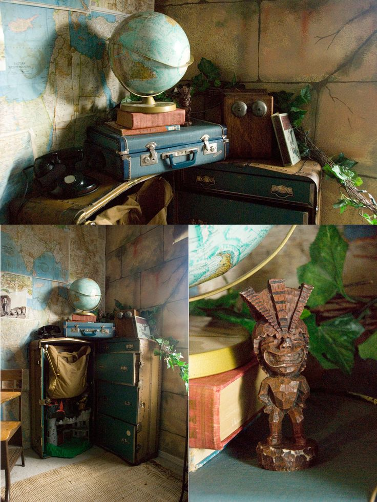love this adventure/indiana jones room...the full write up/blog post is here: http://www.moniqueduke.com/me/ts-indiana-jones-disneyland-ride-inspired-room/