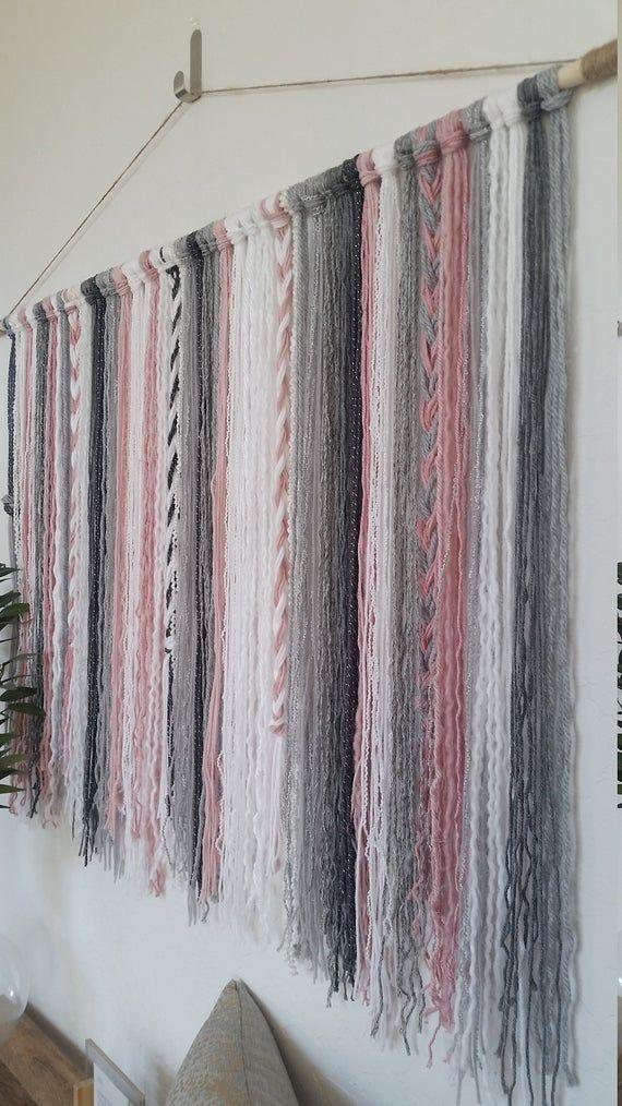 Best Tapestry Yarn Wall Hanging Yarn Tapestry Plush Pink 640 x 480
