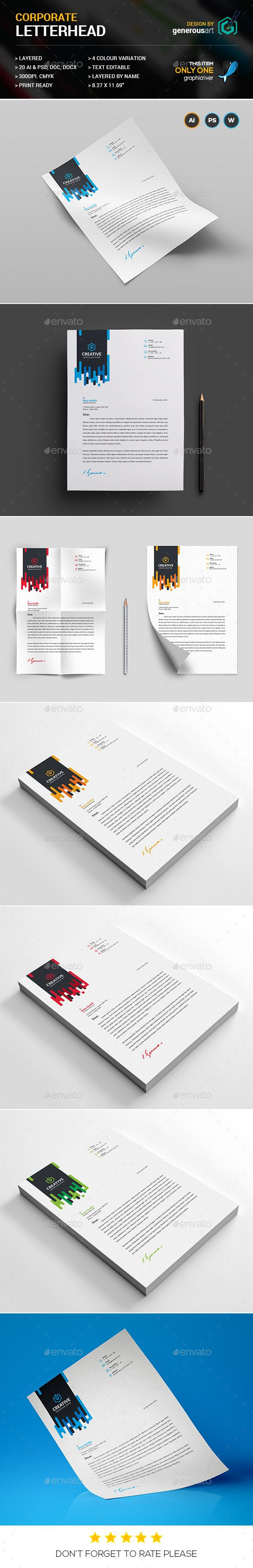 80 best letterhead design templates images on pinterest contact letterhead template spiritdancerdesigns Gallery