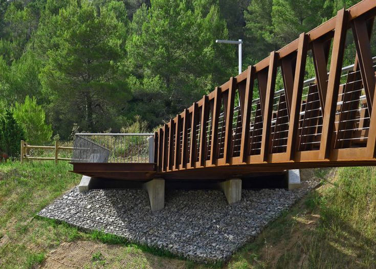 Sant Pere Sacarrera Footbridge made from Corten steel by Alfa Polaris