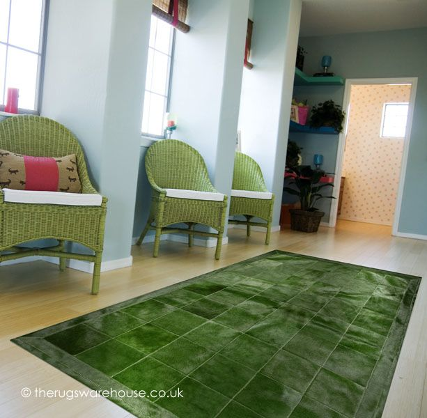 Loire Verdi Rug (handmade in Spain, 100% leather) http://www.therugswarehouse.co.uk/leather-rugs/loire-verdi-rug.html