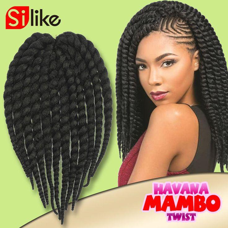 14 ''Крючком Косы Гавана Мамбо Твист крючком косу волосы Все Цвета Сенегальский twist плетение наращивание волос для blackwomen