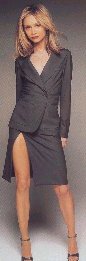 calista flockhart mini skirt