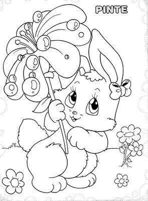 ESPAÇO EDUCAR: 130 desenhos, moldes e riscos de coelhos de Páscoa para colorir, pintar, imprimir e preparar as atividades de Páscoa!