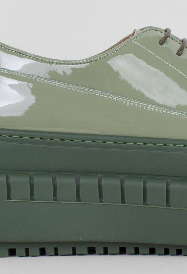 Acne Studios Sacha Shoe Military Green – Voo Store