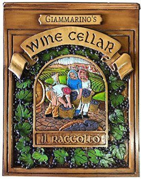 This is truly a Rich, Unique, and Bold Wine Wall Art Decor piece.  admittedly i love all types of wine wall art decor especially wine wall clocks, metal wall art,  wine grapes wall art decor. As these provide great kitchen decorating inspiration making wine wall art my favorite type of kitchen wall art.  Italian Wine Cellar Personalized Plaque-large Size