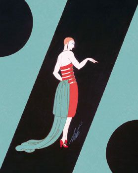 Evening Dresses and Curtains by Erte
