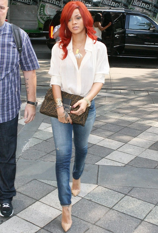 street style Jeans+white blouse