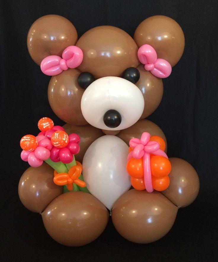 4-foot Balloon Teddy Bear