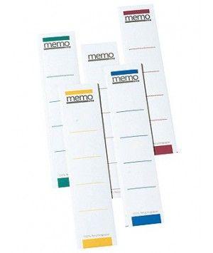 Etiquettes Autocollantes Recyclés pour Classeur Dos de 5cm -Ange Bleu - par 10