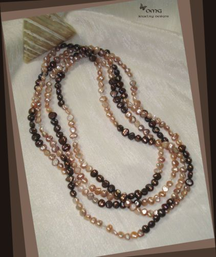 Long Rope Pearl Necklace - White & Iridescent (F27)