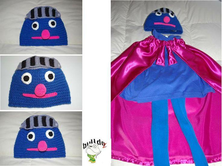 Disfraz de Super Coco hecho a mano BulldoZ, Cosicas de lana
