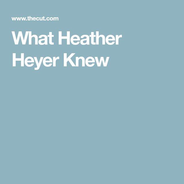 What Heather Heyer Knew