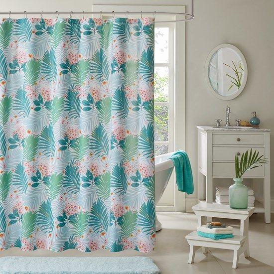 tropicana printed shower curtain