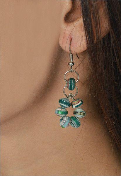 Paper Bead Earrings – Siem Fair Trade Fashion