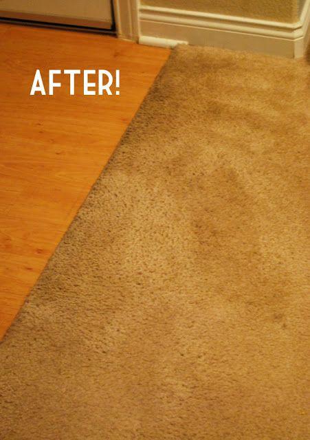 nettoyage de tapis = 1 cs liquide vaisselle + 1 cs vinaigre + 2 tasses d'eau chaude + un gant de toilette = mélanger + frotter + éponger au maximum