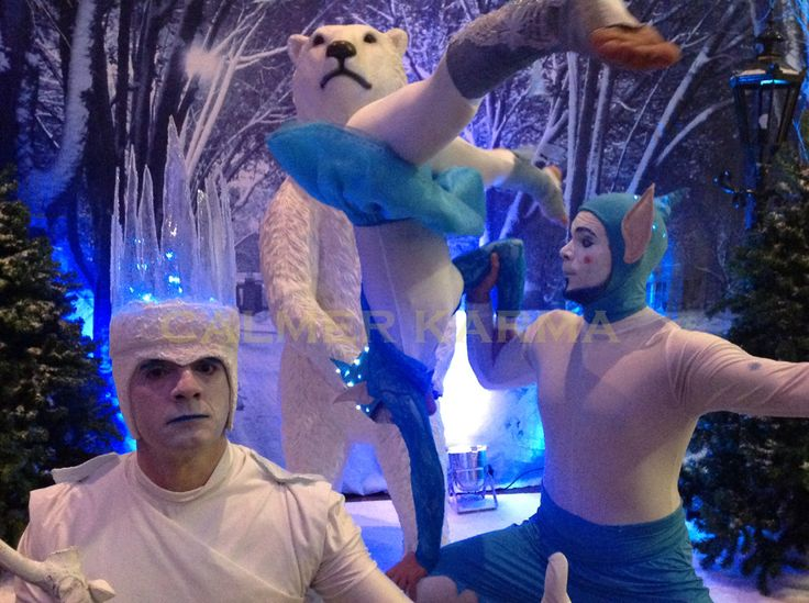 Winter Wonderland acrobatic elfs and MC Ice King to hire  http://www.calmerkarma.org.uk/winter-wonderland.htm    Perfect for corporate Christmas parties.   Hire across the UK inc MANCHESTER, LONDON, Cheshire, BIRMINGHAM, CARDIFF, Bristol  http://www.calmerkarma.org.uk/winter-wonderland.htm