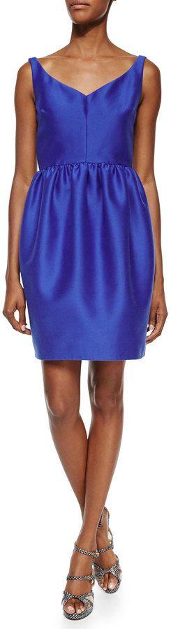 Kate Spade New York Sleeveless V-Neck Pouf-Skirt Dress