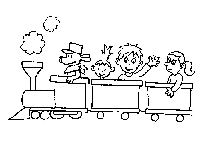transportation crafts for toddlers | Train Coloring Page For Kids | Kiboomu