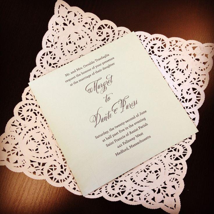 Die Cut Wrapped Invitation Unprinted DIY