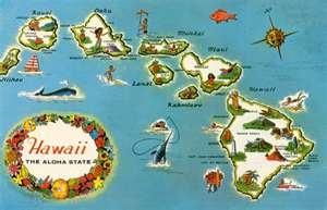 Hawaii: Aloha, Favorite Places, Oahu Hawaii, Maps, Art Prints, Hawaii Art, Allposters Com, Hawaiian Islands, Hawaii Map