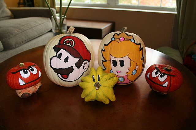 Super Mario Pumpkins Top Down | Flickr - Photo Sharing!