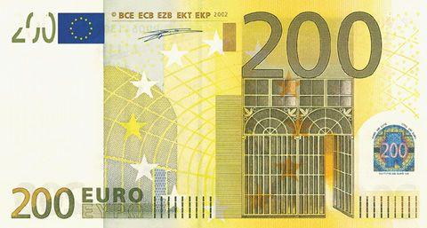 een biljet van 200 euro