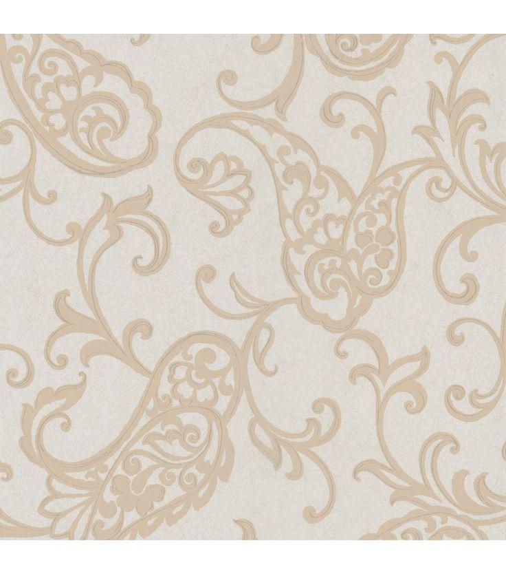 Monireh Platinum Fish Paisley Wallpaper