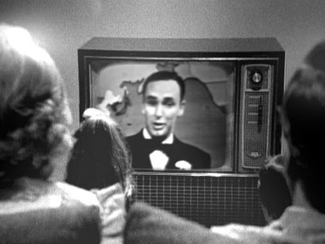 Bruce Gyngell re-enacts his 1956 introduction to the first regular television broadcast service to the residents of Sydney on TCN-9.