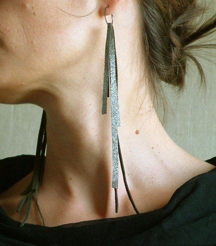 scrap leather earrings