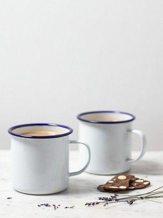 Enamel mugs from Showroom via The Third Row